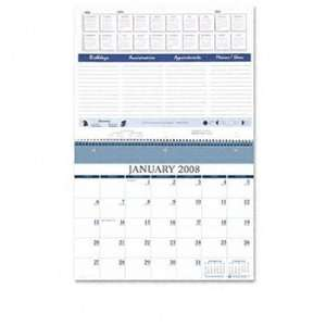 House of DoolittleTM Monthly Calendar for Wall or Ring