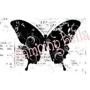 Stamping Bella Unmounted Rubber Stamp Eclectic Butterfly