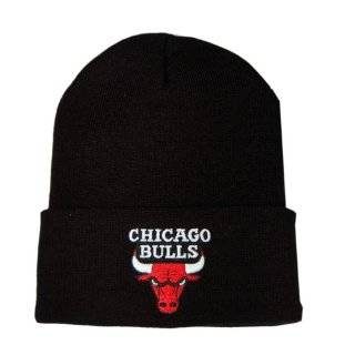 : Chicago Bulls NBA Black Red and White Beanie Hat: Sports & Outdoors