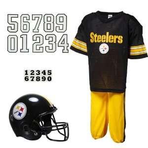 NFL Pittsburgh Steelers Youth Black Deluxe Team Uniform Set