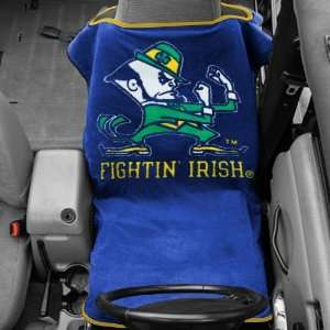 Notre Dame Fighting Irish Navy Blue Towel Car Seat Cover