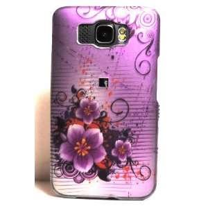 Purple Orchid Flower Art Rubber Texture HTC HD2 Snap on
