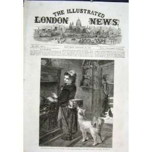 Welcome Bonavia Pall Mall Girl Dog Print 1867: Home & Kitchen