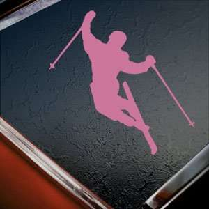 SKIER SKIING SKI Pink Decal Car Truck Window Pink Sticker