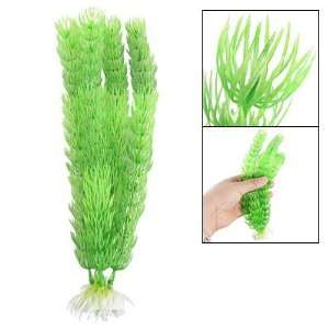 Como Ceramic Base Fish Tank Plastic Grass Green Plants