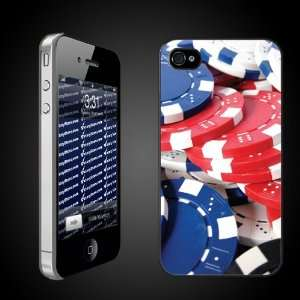 Fun iPhone Case Designs   Poker Chips CLEAR Protective