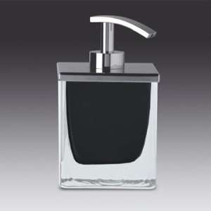 Crystal Glass Soap Dispenser with Chrome Pump 90433 Home & Kitchen