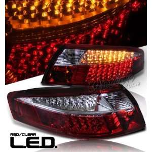 98 05 Porsche Carrera 996 LED Tail Lights   Red Clear