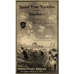 1916 Ad New Jersey Beach Vacation Pennsylvania Railroad