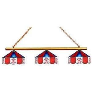 Boston Red Sox 3pc Swag Glass Billiard/Pool Table Light