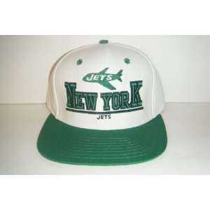York Jets NEW Vintage Snapback Hat Authentic Cap Sports & Outdoors