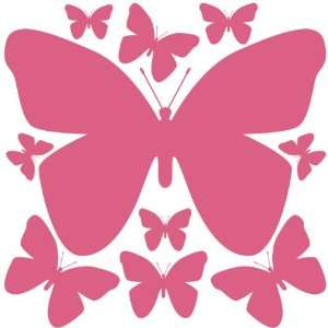 Wall Stickers (13) Peel & Stick Removable Beautiful Butterfly Wall
