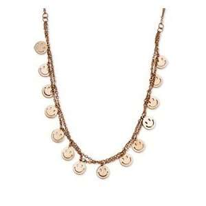 Steel Rose Gold plated Happy Faces 19in w/ext Necklace: Jewelry