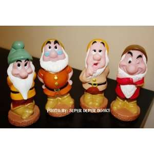 Four of the Seven Dwarfs From Disneys Snow White Plastic