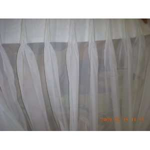 Sheer Curtain Custom Made French Pleated 2@48x94or 1@ 96x94