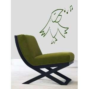 Vinyl Sticker Decal Funny Singing Cartoon Bird A1304