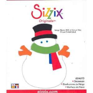Sizzix Originals SNOWMAN 654675 RED: Home & Kitchen