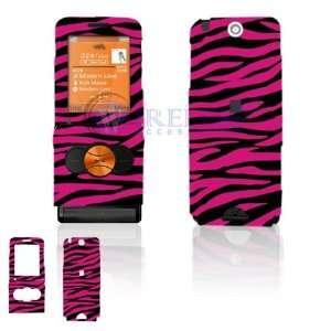 Sony Ericsson W350 Cell Phone Hot Pink/Black Zebra Design