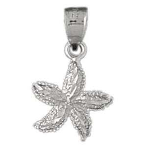14K White Gold Pendant Starfish 1.1   Gram(s) CleverSilver Jewelry