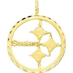 14K Gold NFL Pittsburgh Steelers Logo Charm  Sports
