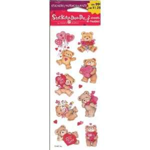 Teddy Bears and Hearts Scrapbook Stickers (UVST007J) Arts