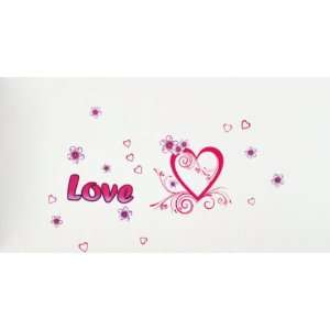 Bigbvg Easy Instant Home Decor Wall Sticker Decal   Love Heart