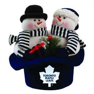 12 NHL Toronto Maple Leafs Snowmen Top Hat Table