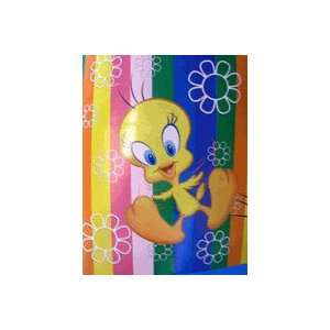 Looney Tunes Tweety Bird Tazmanian Blanket Fleece Throw Toys & Games