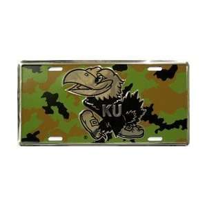 6x12) Kansas University Camo NCAA Chrome License Plate Home & Kitchen