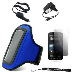 Blue Neoprene Adjustable Velcro Sportband / Exercise