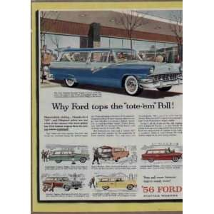 passenger Country Sedan. .. 1956 FORD Station Wagons Ad, A3725