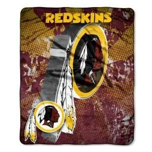 Washington Redskins NFL 50 X 60 Micro Raschel Throw Blanket   Grunge