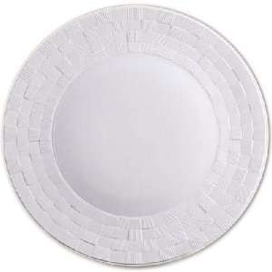 Objet Byzanteum White Dinner Plate 11in  Kitchen