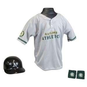 Oakland Athletics MLB Youth Helmet and Jersey Set