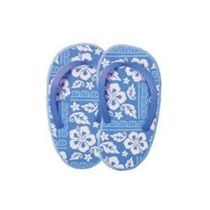 Hibiscus Blue & White Slipper Greeting Card Home