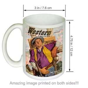 Western Story Roundup Vintage Pulp Cover Art COFFEE MUG