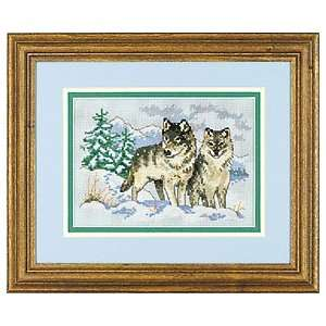 A Pair of Wolves Counted Cross Stitch Kit, Craft Kit: Home