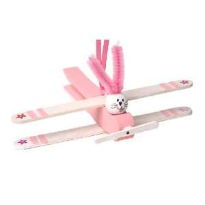 Easter Bunny Plane clothespin Craft Kit: Toys & Games