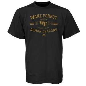 adidas Wake Forest Demon Deacons Black & Gold Forever T shirt