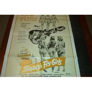 Original Movie Poster Swedish Fly Girls