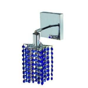 Elegant Lighting 1281W S P SA/RC Mini 8 Inch High 1 Light Wall Sconce
