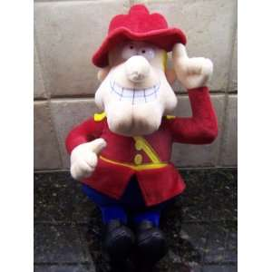 Rocky and Bullwinkles DUDLEY DO RIGHT Large Plush Doll