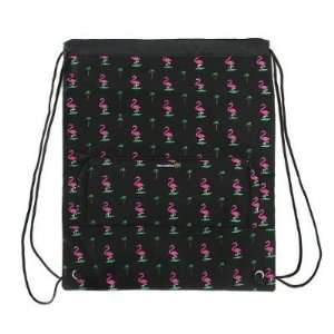 Pink Flamingos FLAMINGO Cinch Backpack by Broad Bay
