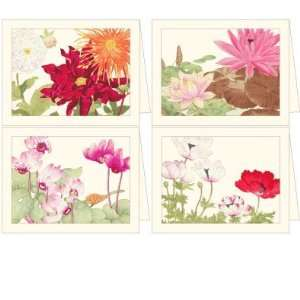 Woodblock Flowers Full Color Boxed Notes (Set Of 8)   Made