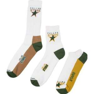 Dallas Stars Mens 3 Pair Sock Pack