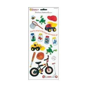 Sandylion Little Boys Stickers 5.5X12 Sheet Toys/Bugs