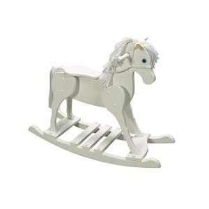 Giftmark Champion Rocking Horse Finish: White: Baby