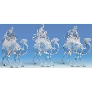 Icy Crystal Religious Wise Men Kings Christmas Nativity Figures  Roman