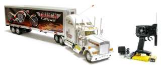 Semi Tractor Trailer 118 Electric RTR RC Container Truck Transmitter