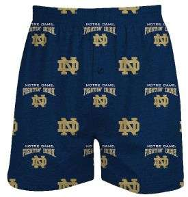 Notre Dame Fighting Irish Mens Supreme Blue Boxer Shorts   Notre Dame